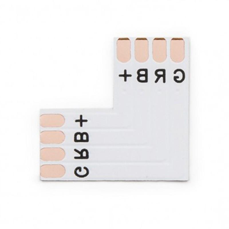 Conector para Soldar L Tira 10mm RGB