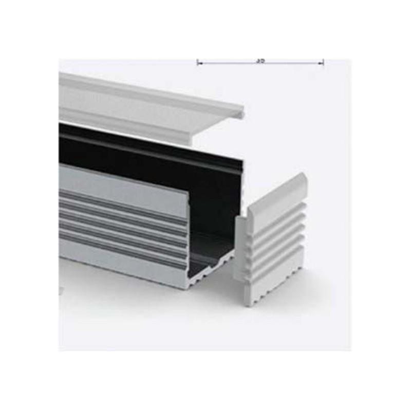Perfil de aluminio ancho