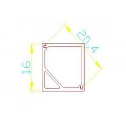 Dimensiones Perfil de aluminio esquinero cuadrado