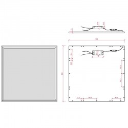 Dimensiones Panel cuadrado 600mm 48W 4800Lm