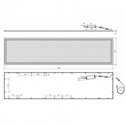 Esquema Panel suspendido 1200*300mm 36W 2270Lm