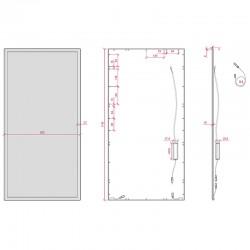 Esquema Panel suspendido 1200*600mm 72W 7900Lm