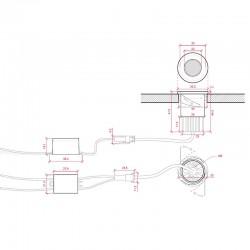 Esquema Ojo de buey 36mm 2W Diana