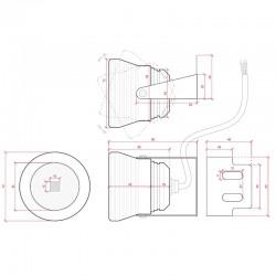 Esquema Foco Jardín IP67 10W 900Lm