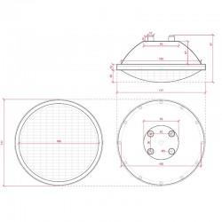 Dimensiones Foco piscina Par56