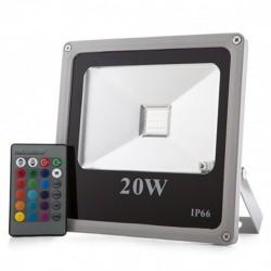 Foco IP65 20W RGB con mando
