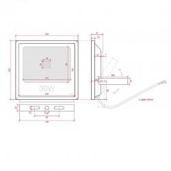 Esquema Foco Proyector IP65 30W 2100Lm