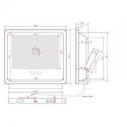 Esquema Foco Proyector IP65 50W 3500Lm