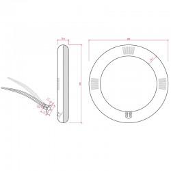 Medidas Tubo led circular 10W 900Lm 205mm