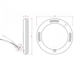 Esquema Tubo led circular 12W 1050Lm 225mm