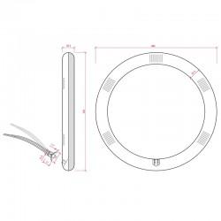 Medidas Tubo led circular 18W 1500Lm 300mm