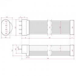 Esquema Tubo Led 2G11 322mm 12W 1100Lm