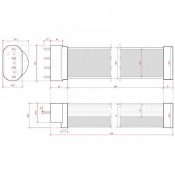 Esquema Tubo Led 2G11 542mm 22W 2000Lm