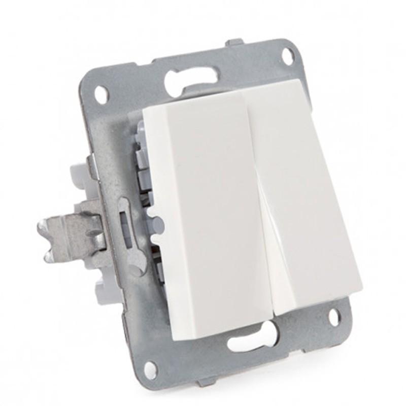Interruptor Doble Panasonic 10A 220V Tecla Blanca