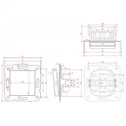 Esquema Interruptor Panasonic 10A 220V Tecla Blanca