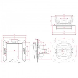 Dimensiones Conmutador Panasonic 10A 220V Tecla Blanca