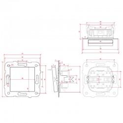 Dimensión Pulsador Panasonic 10A 220V Tecla Blanca