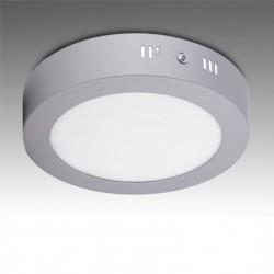 Plafón circular cromado 12w 930Lm 169mm
