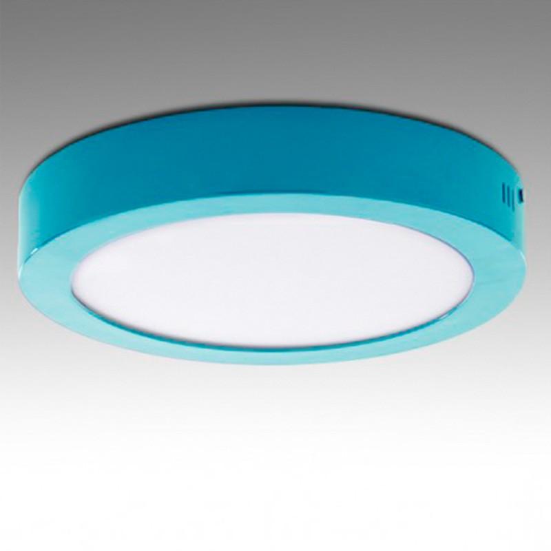 Plafón circular Azul 18W 1450Lm 220mm