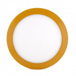 Comprar Plafón circular Amarillo 18W 1450Lm 220mm