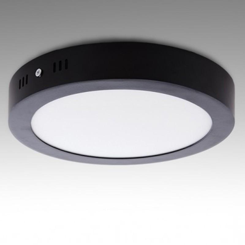 Plafón circular Negro 18W 1450Lm 220mm