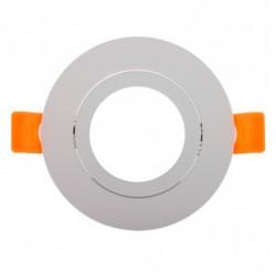 Aro empotrable Circular Basculante Blanco 93mm