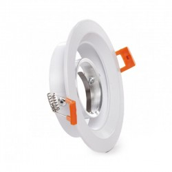 Comprar Aro empotrable Circular Blanco 120mm