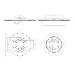 Medida Aro empotrable Circular Blanco 120mm