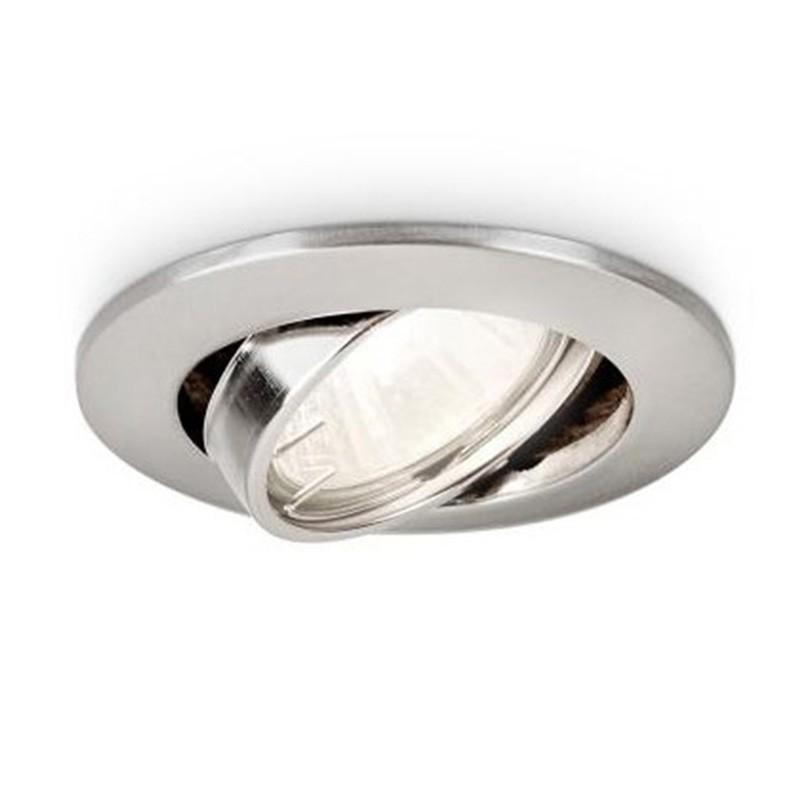 Aro empotrable Philips Circular Satinado basculante