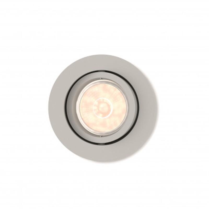 Aro empotrable Philips Circular Plateado Gu10 Basculante