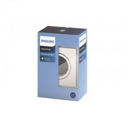 Aro empotrable Philips Cuadrado Blanco Basculante Gu10