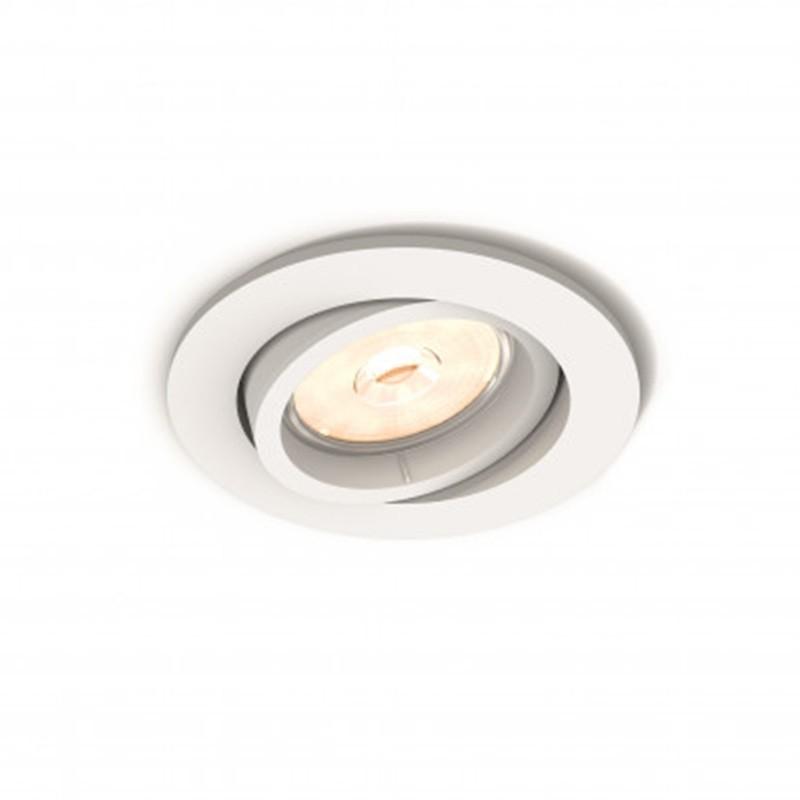 Aro empotrable Philips Circular blanco gu10 basculante