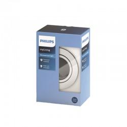 Aro empotrable Philips Circular Satinado Gu10 Basculante