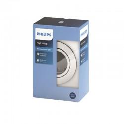 Aro empotrable Philips Circular Cromado Gu10 Basculante