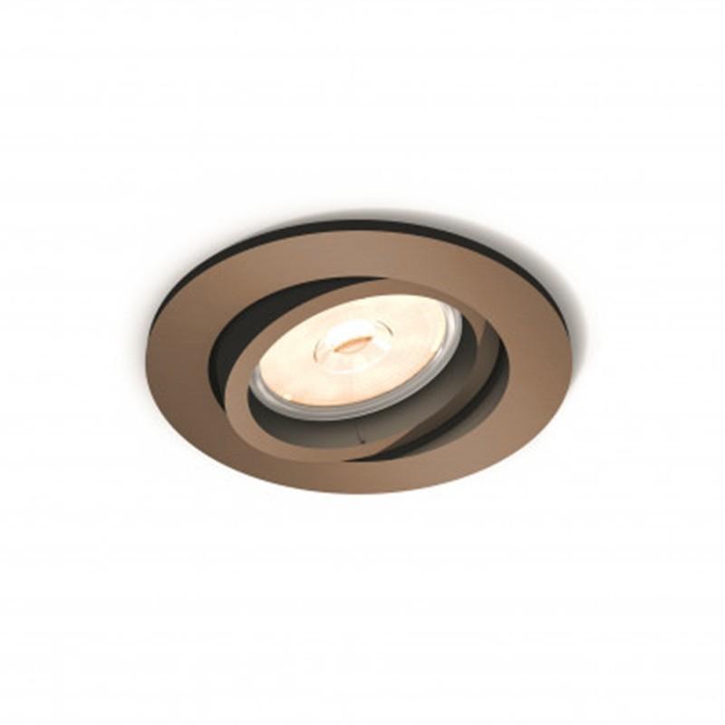 Aro empotrable Philips Circular cobre Gu10 Basculante