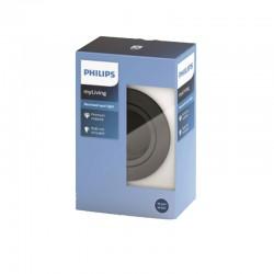 Aro empotrable Philips Circular Plateado oscuro Gu10 Basculante