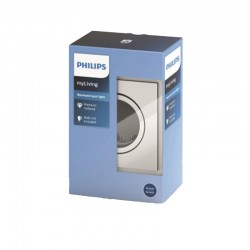 Aro empotrable Philips cuadrado Satinado Gu10 Basculante