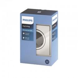 Aro empotrable Philips cuadrado Cromado Gu10 Basculante