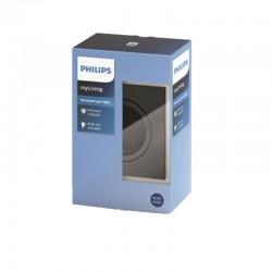 Aro empotrable Philips Cuadrado plateado oscuro Gu10 Basculante
