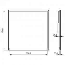 Medidas Panel Led Philips 38W 600x600mm Blanco Neutro