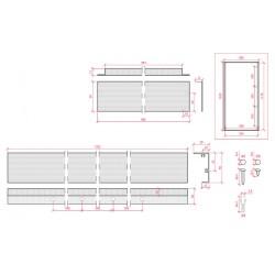 Esquema Marco superficie para panel led 1200x600mm