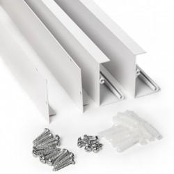 Componentes Marco superficie para panel led 1200x300mm