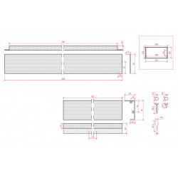 Medidas Marco superficie para panel led 600x300mm