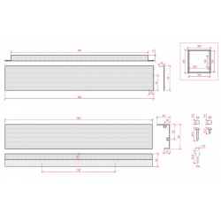 Medida Marco superficie para panel led 300x300mm