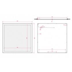 Esquema Panel led RGB 60x60cm 32W 24V