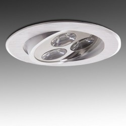 Foco Downlight Led Circular 3W 300Lm Ø85mm