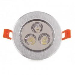Oferta Foco Downlight Led Circular 3W 300Lm Ø85mm