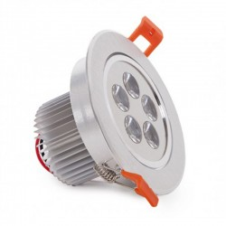 Comprar Foco Downlight Led Circular 5W 500Lm Ø108mm