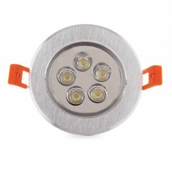 Oferta Foco Downlight Led Circular 5W 500Lm Ø108mm