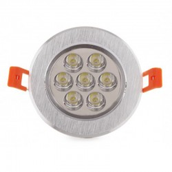 Comprar Foco Downlight Led Circular 7W 700Lm Ø108mm